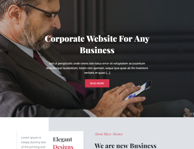 Best WordPress theme for your Corporate Website